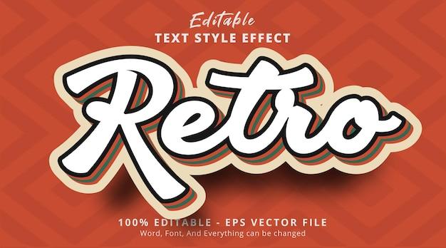 Retro vintage veelkleurig teksteffect bewerkbaar teksteffect
