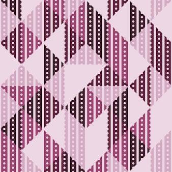 Retro violet abstract geometrisch naadloos patroon.