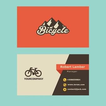 Retro visitekaartje met fiets logo