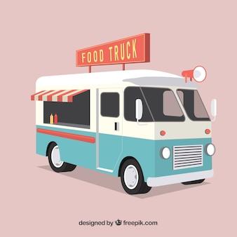 Retro voedsel vrachtwagen