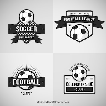 Retro voetbal badges