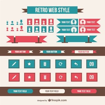 Retro web stijlelementen