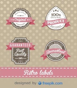 Retro zakelijke badges