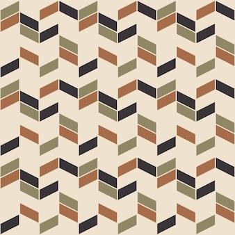 Retro zigzag naadloos patroon in scandinavische stijl