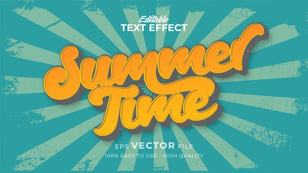 Retro zomerse vibes-tekst in grunge-stijlthema