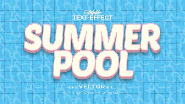 Retro zomerzwembadtekst in grunge-stijlthema