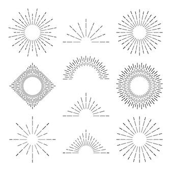 Retro zonnestraalstralen