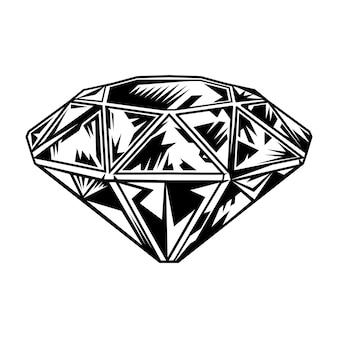 Retro zwart-wit diamant.