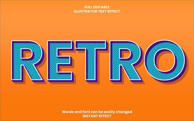 Retrotext-effect