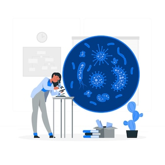 Retrovirussen concept illustratie
