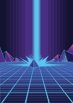 Retrowave achtergrond afbeelding