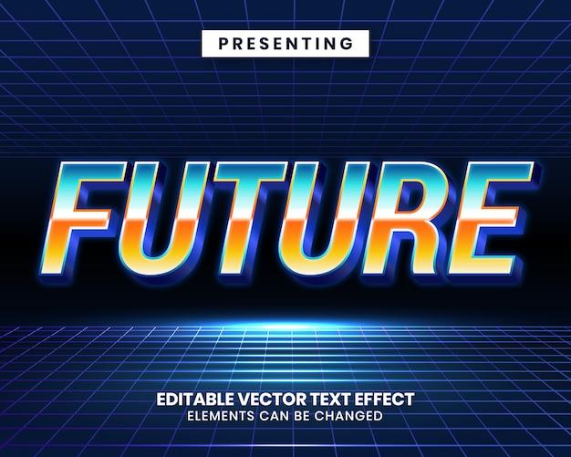 Retrowave futuristisch bewerkbaar teksteffect