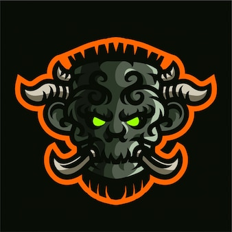 Reuzenkoning mascotte gaming-logo