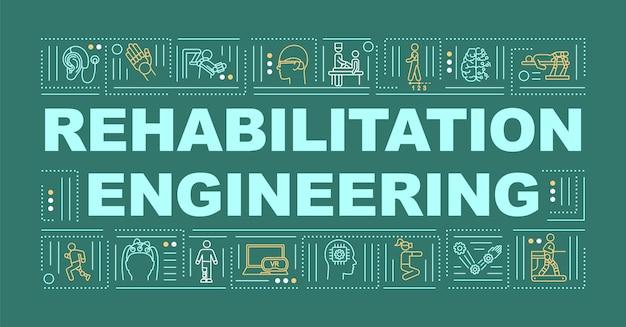 Revalidatie engineering woord concepten banner