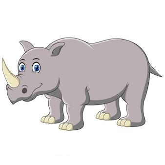 Rhino geïsoleerd