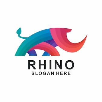 Rhino kleurrijk logo
