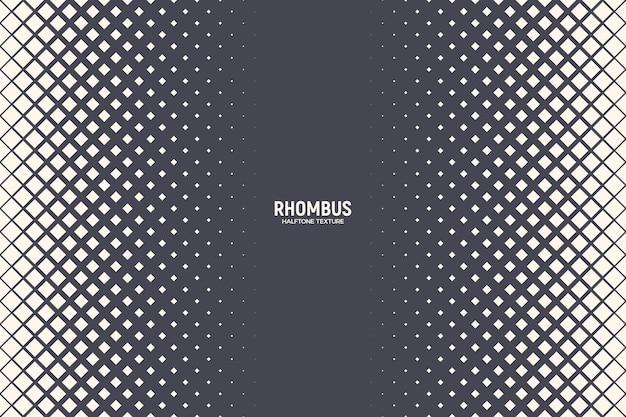 Rhombus halftone textuur geometrische rand retro gekleurde patroon technologie abstracte achtergrond