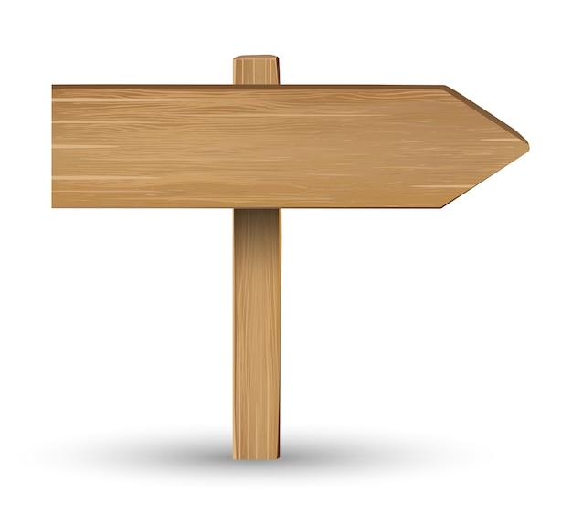 Richting houten bord teken