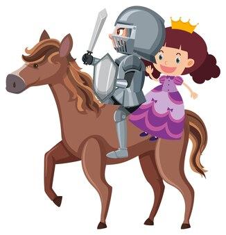 Ridder en prinses rijpaard