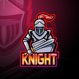 Ridder esport logo mascotte ontwerp