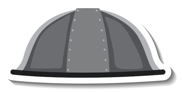 Ridder helm cartoon sticker