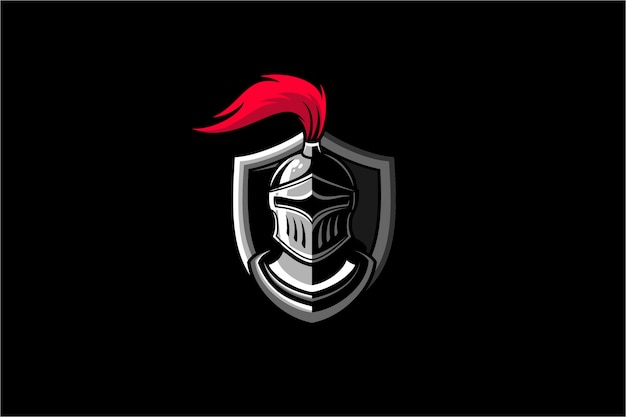 Ridder krijger logo illustratie