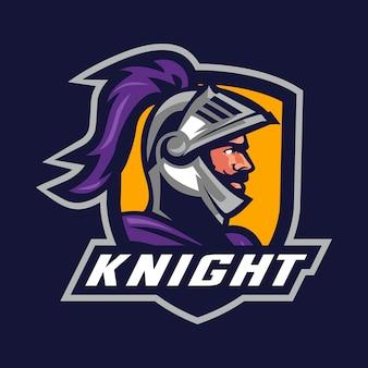 Ridder krijger mascotte logo