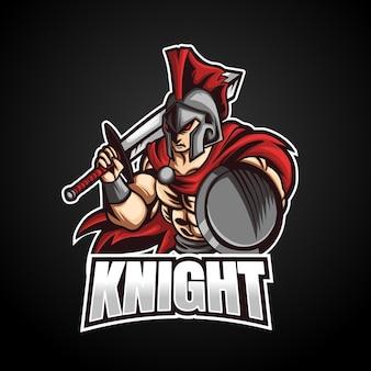 Ridder mascotte esport logo ontwerp