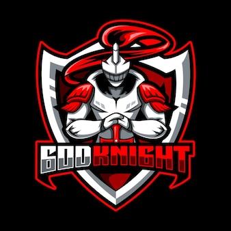 Ridder mascotte logo voor esports en sportteam