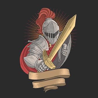 Ridder met een gouden zwaard