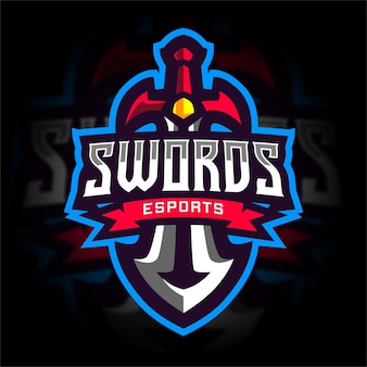 Ridder zwaard esport gaming-logo