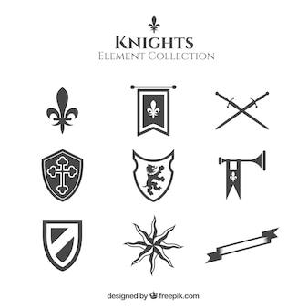 Ridders elementen met elegante stijl
