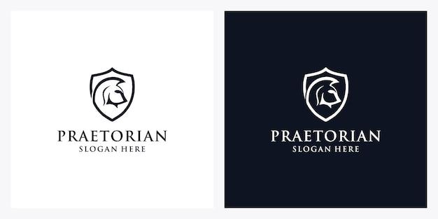 Ridderwacht emblemen logo ontwerp tamplate
