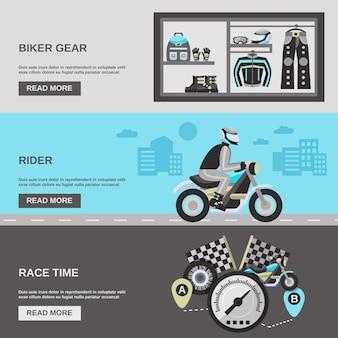 Rider banner set