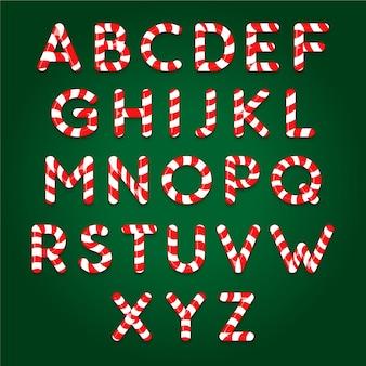 Riet van het suikergoed kerstmis alfabetpakket