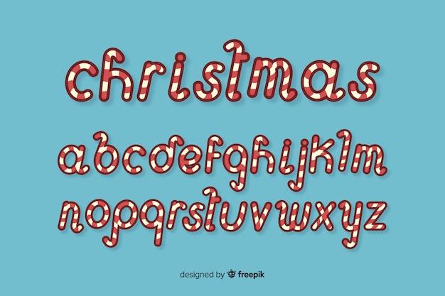Riet van het suikergoed kerstmisalfabet