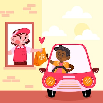 Rijd door het raam