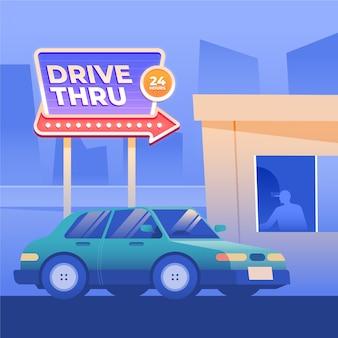 Rijd door teken