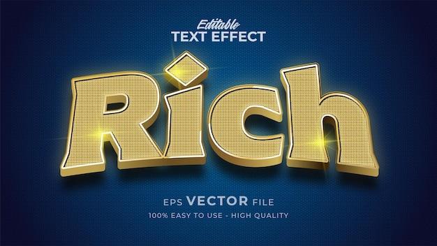 Rijk goud bewerkbaar teksteffect