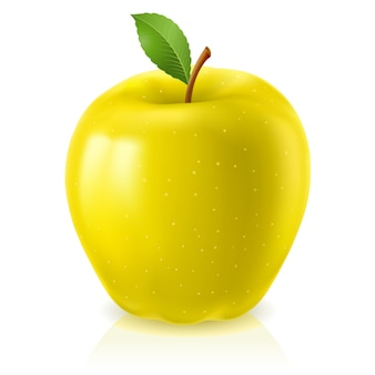 Rijpe gele appel