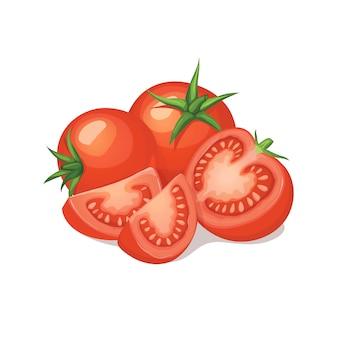 Rijpe tomatensamenstelling