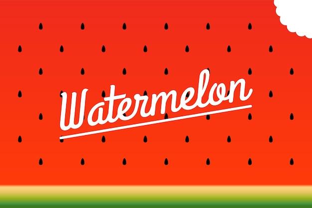 Rijpe watermeloen gebeten stuk patroon.