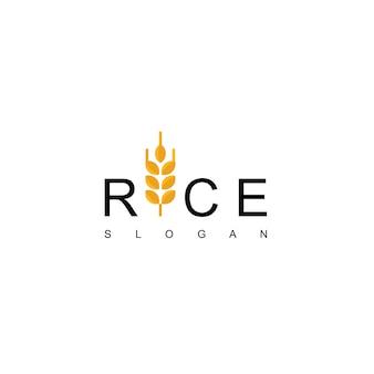 Rijst logo design vector