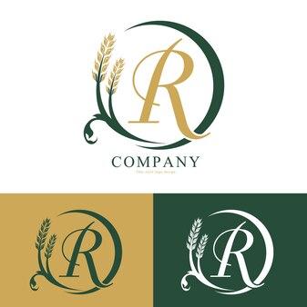 Rijst logo vector