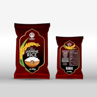 Rijstpakket thailand voedingsproducten