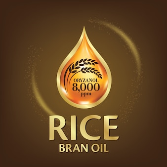 Rijstzemelen olie illustratie.