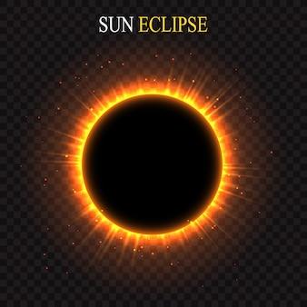 Rijzende zon over de planeet. vector ruimte achtergrond