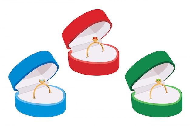Ring in een doos
