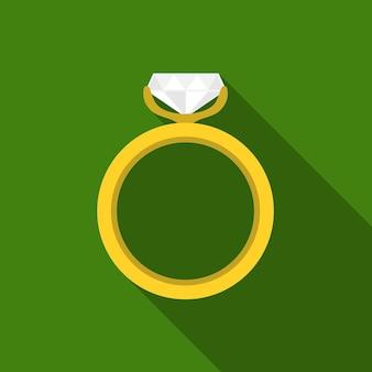 Ring platte pictogram illustratie geïsoleerde vector teken symbool