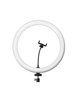 Ringlamp met statiefsjabloon witte led cirkel